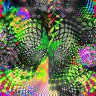 Psychedelic Fantasy Butterfly 1 by Lynda K Cole-Smith