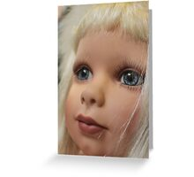 What a pretty doll...... Greeting Card