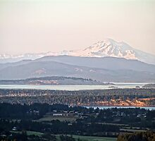 Mount Baker from The Malahat by James Zickmantel