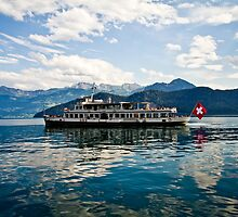 Swiss Ferry on Lake Zug by jegi52001