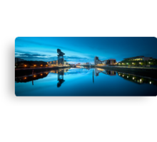 A calm sunrise in Glasgow Canvas Print