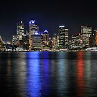 Sydney Skyline on a Winters Night by Ian Berry
