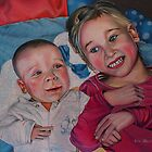 """Lovely little brother with sister"" by Arts Albach"