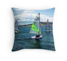 I Saw Three Ships Go Sailing By  Throw Pillow