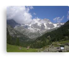 IL MONTE ROSA.....domani e poi..ITALY- EUROPA.- 1500 visualizzaz.  2013 - Featured in italia 500+ VETRINA RB EXPLORE 10 LUGLIO 2012 ---- Canvas Print