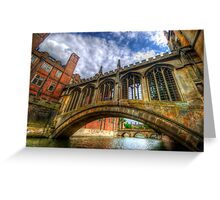 Bridge Of Sighs, Cambridge Greeting Card