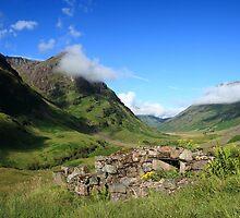 Glencoe in the Highlands of Scotland. by John Cameron