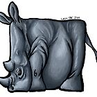 Rhino Squared Print by Lacey &#x27;Tak&#x27; Ewald