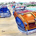 48' Town & Country Chrysler Woody On The Pier by Rob Beilby