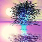 Ice Blue Tree on Diamond Lake by Georgia Wild