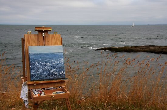 en plein air in gray by TerrillWelch