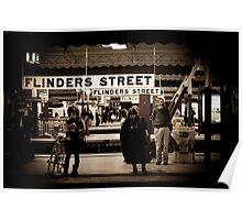 Flinders St Platform 3 Poster