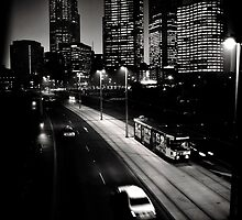 Melbourne after dark by Andrew Wilson