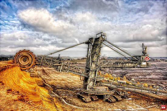bucket-wheel excavator by MarkusWill
