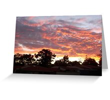 Suburbia Sunset Two Greeting Card