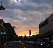 Sunset On David Jones by Robert Phillips