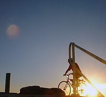 Sunset Bike Two by Robert Phillips