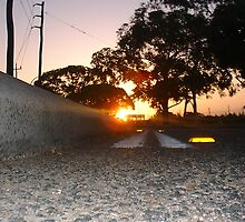 Sunset Railway Road Three by Robert Phillips