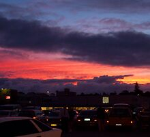 Sunset Carpark Two by Robert Phillips