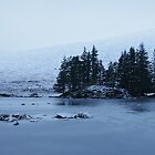 Frozen Loch Ossian just after dawn. by AlbertLake