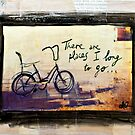 Places I Long to Go - Bicycle mixed media photo by DanielleQ