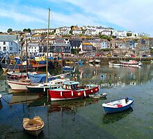 Mevagissey Harbour, Cornwall by Digimo