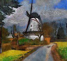 Old Mill - Boechout near Antwerp Belgium by Gilberte