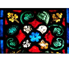 Stained Glass Flourishes 2 Photographic Print