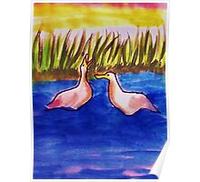 Lets go play!!   Bird series, watercolor Poster