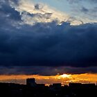 Evening in Antwerp-angry skies by mypic