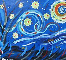 Van Gogh's Gone Mod by Leslie Gustafson