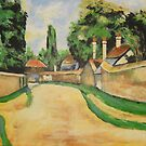 Houses Along The Road from P Cezanne by Jsimone