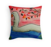 Almost time to move on,,, Bird series, watercolor Throw Pillow