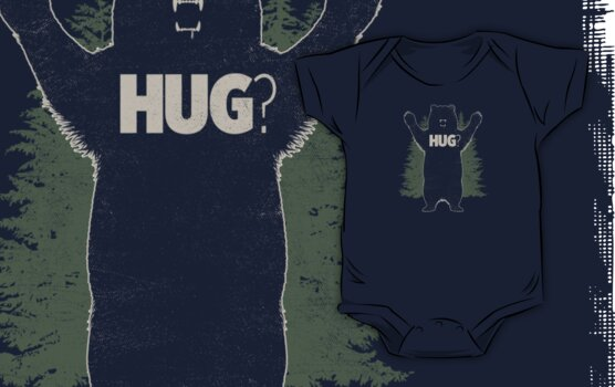 Bear Hug (Dark) T-Shirt  by Fanboy30