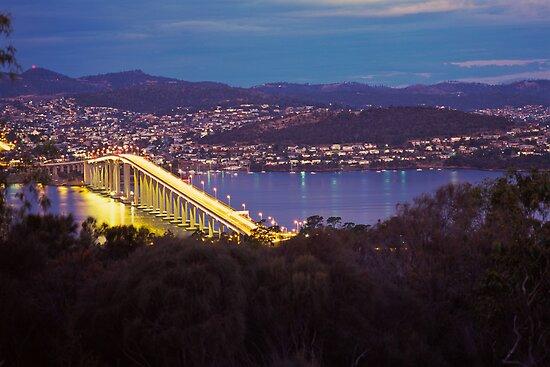 Dusk, Tasman Bridge by Brett Rogers