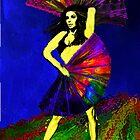 WIP 1 Rainbow Goddess by Elisabeth Dubois