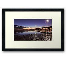 After Sunset at Semaphore. Framed Print