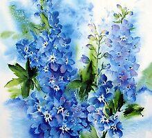 Summer-Blue by Bev  Wells