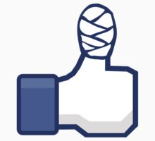 thumbs up, facebook, like it, bandage wrapped around an injured finger by ARGO