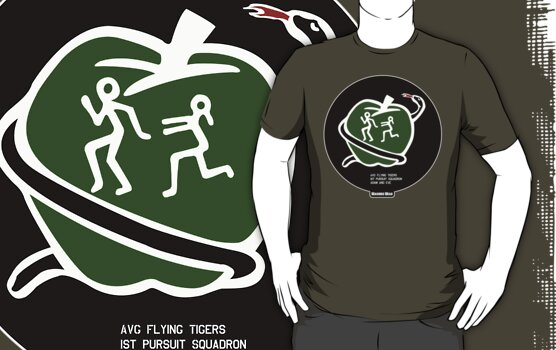 "Flying Tigers AVG 1st Pursuit ""Adam & Eve"" by warbirdwear"
