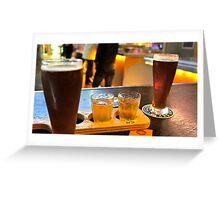 Beers @ Blue Sky Brewery Greeting Card