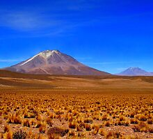 Land of Volcanos - Complementary Colours by Honor Kyne