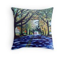 'Morehead St., Early October' Throw Pillow