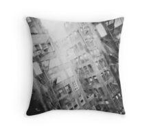 New York Double Exposure Throw Pillow