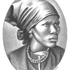 Lindiwe - portrait of an African woman by Karen Bittkau