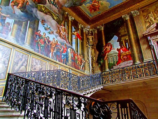 Staircase Hampton Court - HDR by Colin J Williams Photography