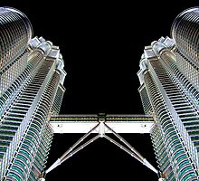 Petronas Tower at Night by Samuel  Khusunawi