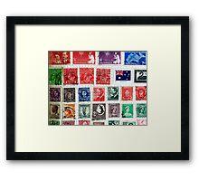 Old Stamps Framed Print