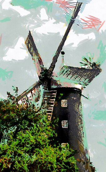Beautiful Britain - Burgh le Marsh Windmill by Dennis Melling