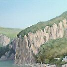 Cliffs of Marina Grande by Carole Russell